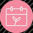 calendar, leaf, schedule, garden, gardening, greenery