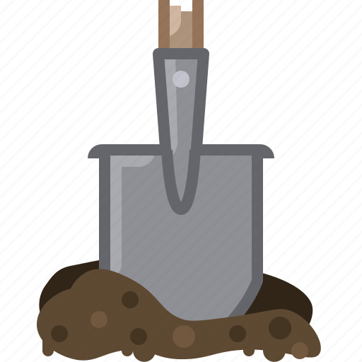 earth, garden, gardening, spade, tillage, tool, yumminky icon