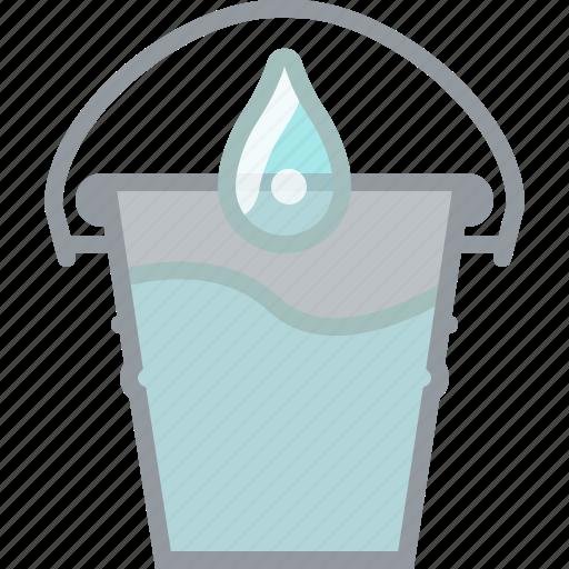 farm, garden, gardening, pail, tool, watering, yumminky icon