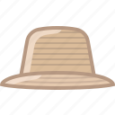 farm, farmer, garden, hat, head, tool, yumminky icon