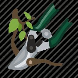 garden, gardening, pruning, scissors, tool, twig, yumminky icon