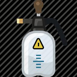 atomizer, fertilizer, garden, insecticide, poison, tool, yumminky icon