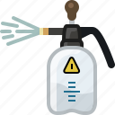 atomizer, fertilizer, garden, insecticide, poison, tool, yumminky icon