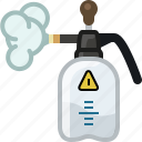 atomizer, fertilizer, garden, insecticide, steam, tool, yumminky icon
