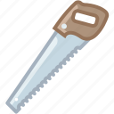 cutting, garden, gardening, saw, tool, wood, yumminky icon