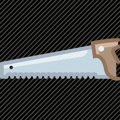 cutting, garden, gardening, saw, tool, wood, yumminky icon