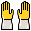 equipment, gardening, gloves, hand, protection, tool icon
