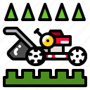 cut, grass, lawn, lawnmower, mower icon