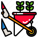 barrow, cart, gardening, wheel, wheelbarrow icon