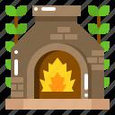 backyard, fire, fireplace, patio, pit, stone