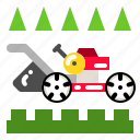 cut, grass, lawn, lawnmower, mower icon