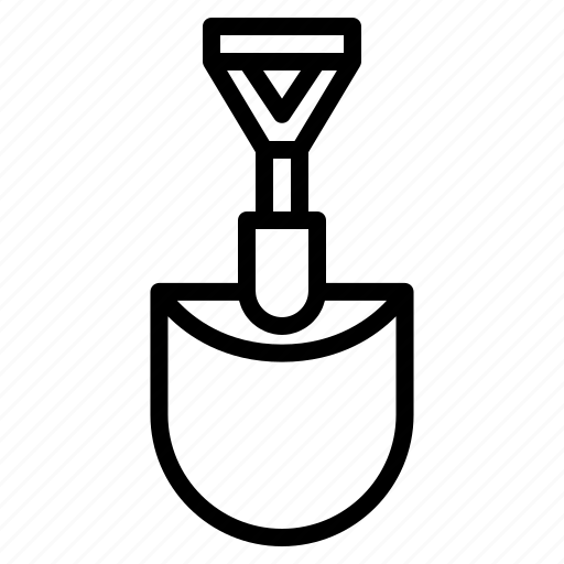 agriculture, gardening, handle, shovel, tool icon