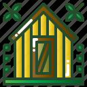 building, garden, hut, shed, storage icon