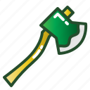axe, equipment, tool, weapon, wood icon
