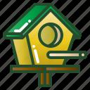 bird, birdhouse, garden, house, nest icon