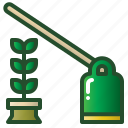 agriculture, hoe, hoeing, soil, tool icon