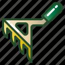 gardening, rake, raking, tool, yard icon