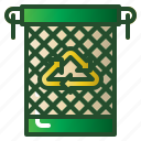 bin, garbage, recycling, reuse, trash, waste icon