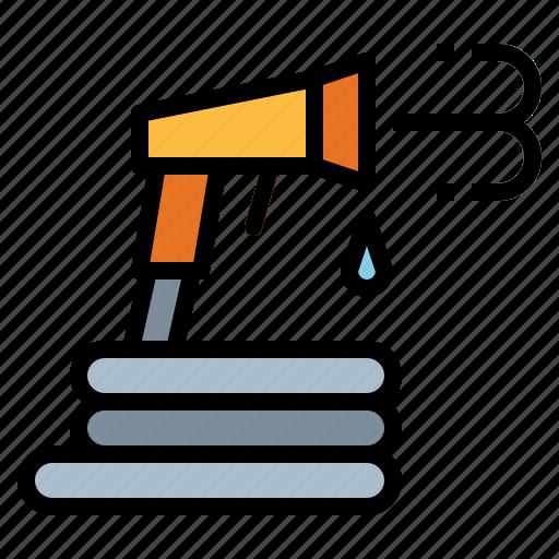 hose, hosepipe, pray, sprayer, water, watering icon