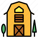 barn, buildings, farm, gardening icon