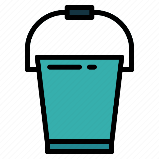 bucket, cleaning, washing icon