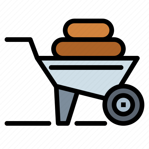 cart, gardening, trolley, wheelbarrow icon