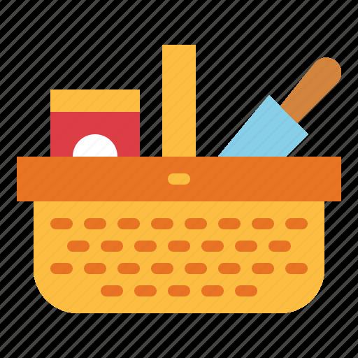 basket, camping, picnic, shop icon