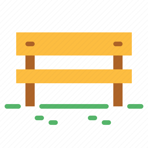 bench, comfortable, seat, urban icon