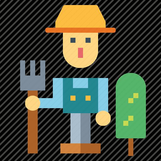 farmer, farming, garden, gardener icon