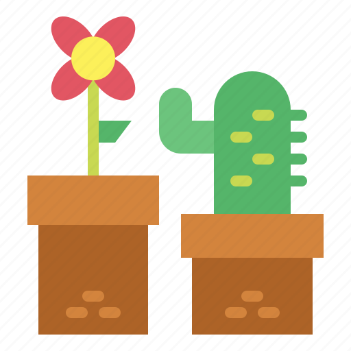 flower, plant, pot, pots icon