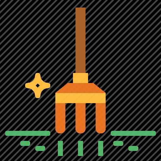 fork, gardening, rake, tools icon