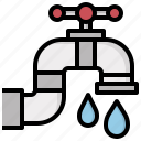 bathroom, drop, ecology, tap, water icon