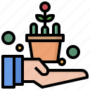 ecology, environment, farming, gardening, investment, planting icon