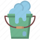 bubble, bubbles, bucket, cleaning, miscellaneous, washing icon