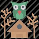 architecture, bird, city, farming, gardening, yard icon