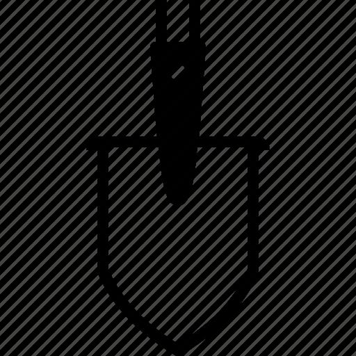 farm, garden, gardening, spade, tillage, tool, yumminky icon