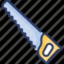 construction, cutting, handsaw, metal, saw, sawmill, tool