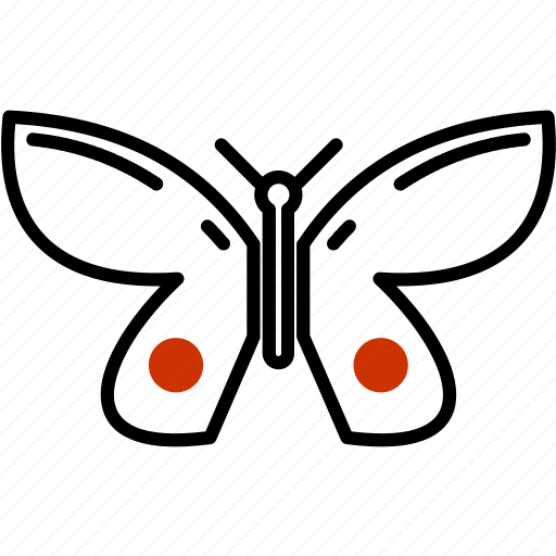 butterfly, gardening, insect icon