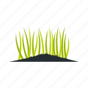 field, garden, grass, ground, lawn, meadow, nature icon