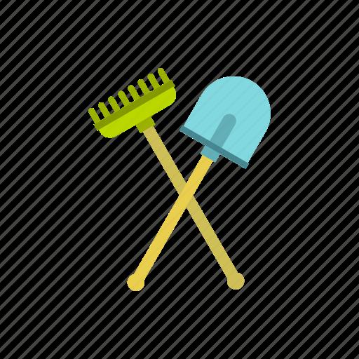 agriculture, garden, gardening, rake, shovel, spade, tool icon