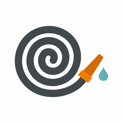 garden, gardening, hose, tool, tube, water, watering icon