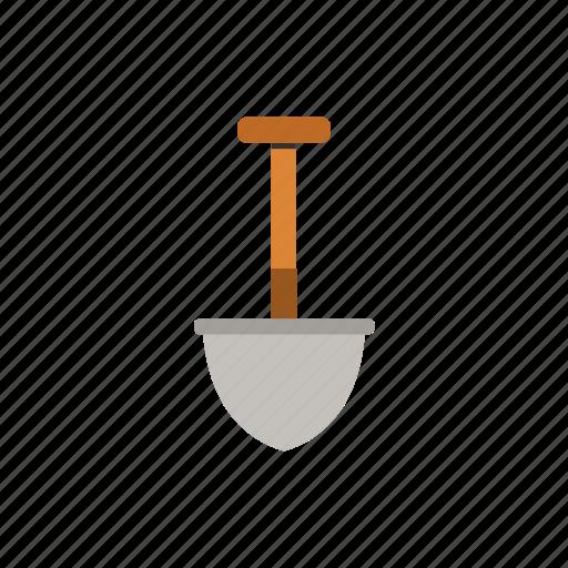 gardening, metal, shovel, tool, work icon