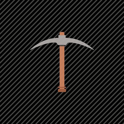 garden, gardening, pickaxe, tool, work icon