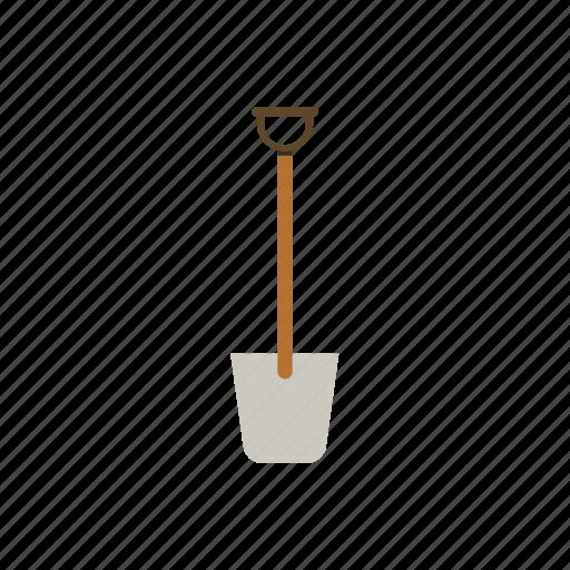 garden, gardening, shovel, tool, work icon