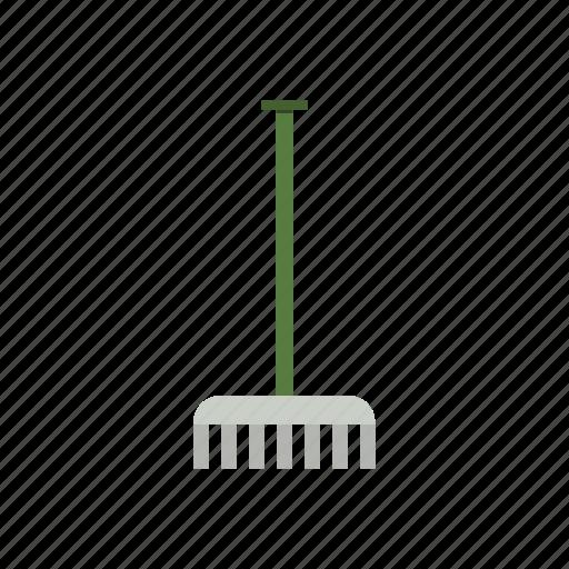 garden, gardening, rake, tool, work icon
