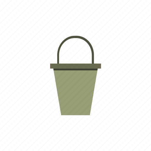 bucket, garden, gardening, tool, water, work icon
