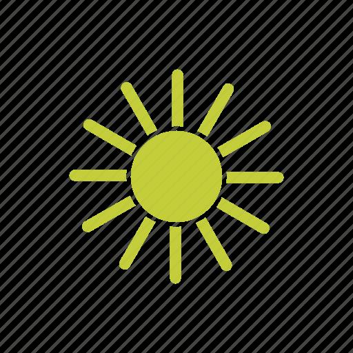 hot, sky, star, summer, sun icon