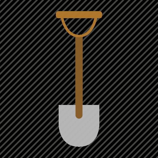 garden, gardening, metal, shovel, tool, work icon