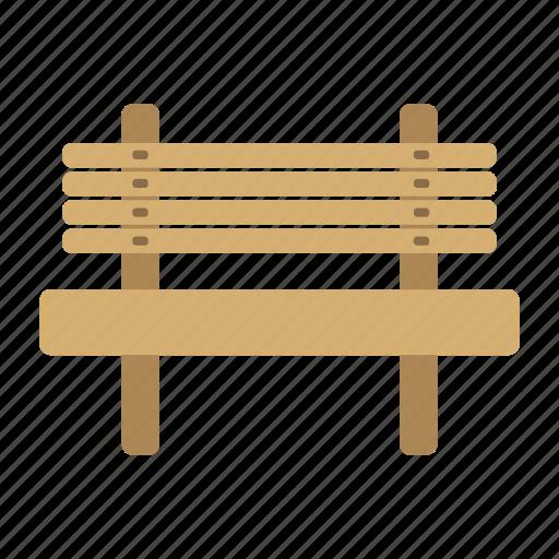 bench, garden, gardening, park, wood icon