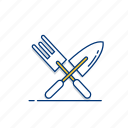 equipment, fork, garden, gardening, shovel, tool, trowel icon